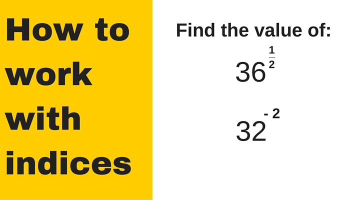 How to work with indices - GCSE maths practice questions