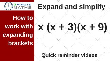 Expand brackets and simplify – mid-level GCSE maths algebra