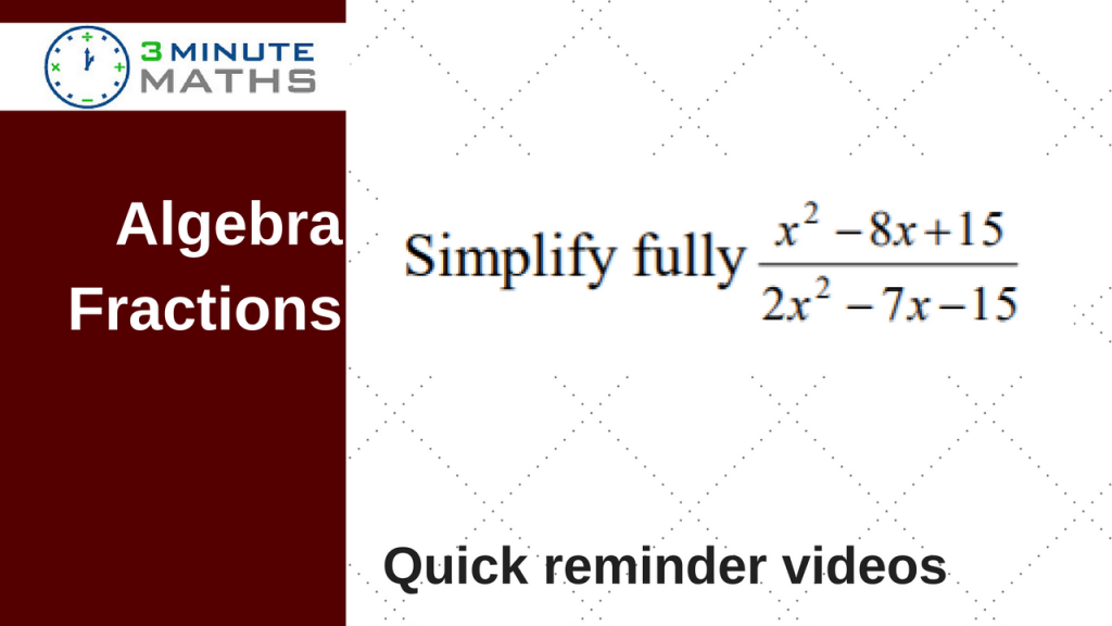 algebra fraction