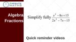 Simplify an algebra fraction using factorising