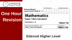Edexcel Maths Paper – Higher Maths Non Calculator With Video