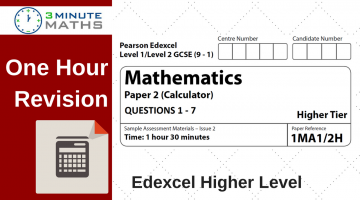 Maths Past Papers – Edexcel GCSE Higher Calculator Questions.