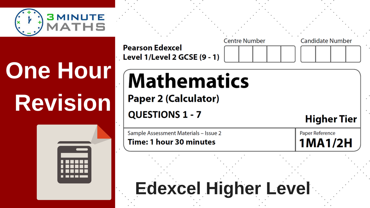 Maths Past Papers - Edexcel GCSE Higher Calculator Questions.