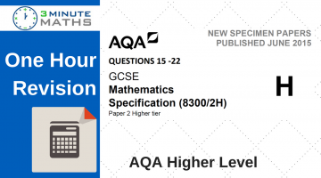 One Hour Revision – AQA GCSE Maths Higher Calculator Questions