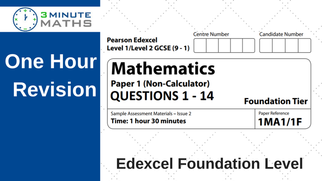 Edexcel maths - Foundation Paper 1 - with video solutions