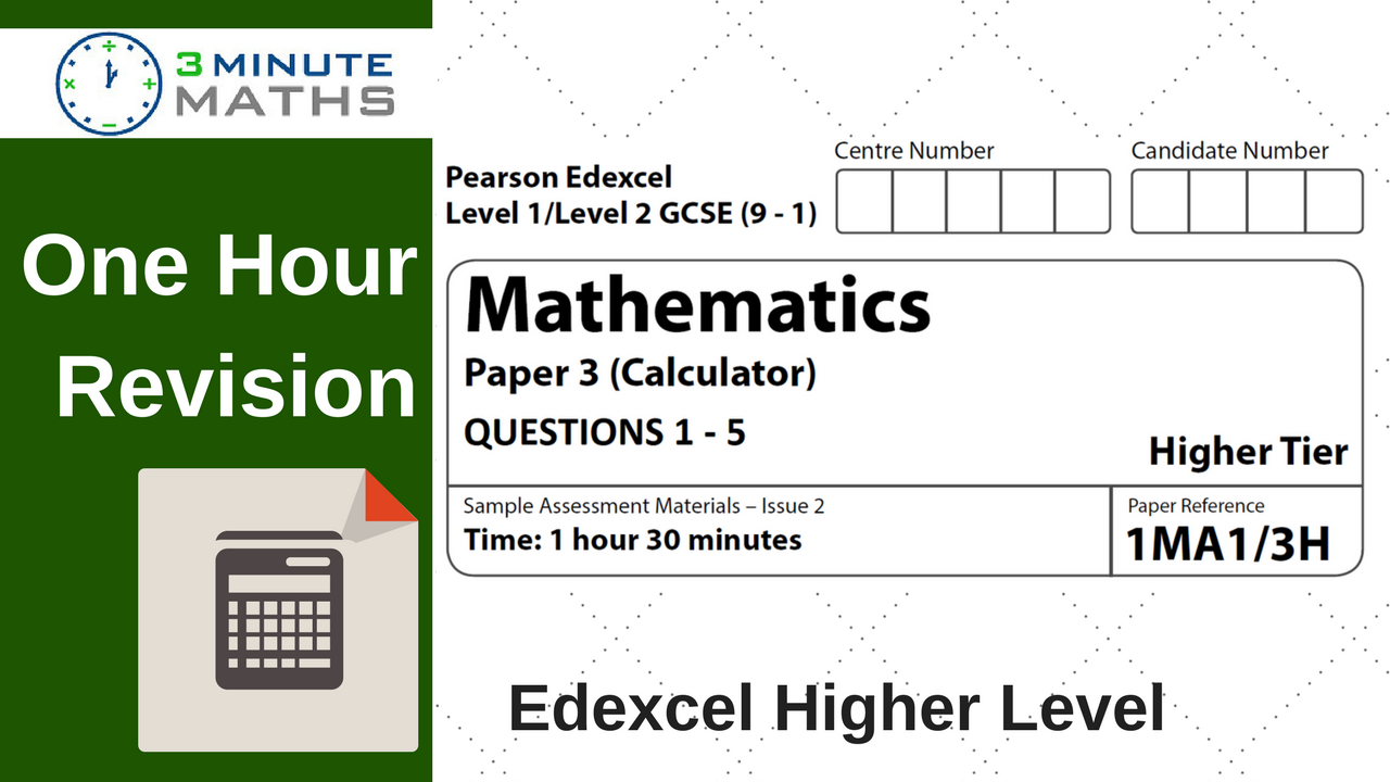 One hour revision edexcel gcse maths higher calculator paper 3 pooptronica