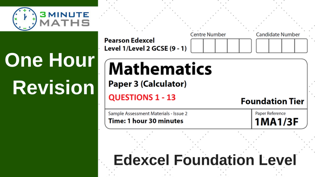 Revise Edexcel GCSE Maths Foundation Paper 3