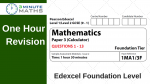 Edexcel Maths Past Papers – Foundation 3 – with video solutions