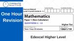 Revise Edexcel GCSE Maths Higher Non Calculator – Set 1