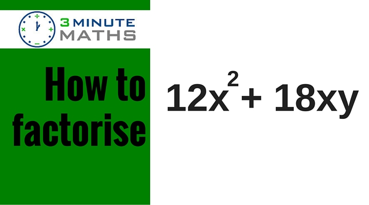 How to factorise equations