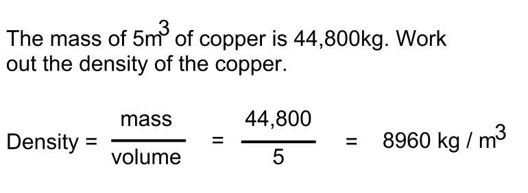 GCSE density question