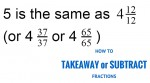 Takeaway subtract fractions