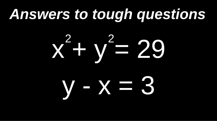 How to solve a simultaneous quadratic and linear equation