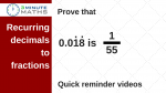 Convert recurring decimals to fractions – GCSE maths level 7+