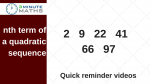 nth term of a quadratic sequence