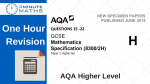 AQA GCSE Higher Maths Calculator
