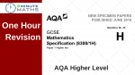AQA GCSE Higher Maths Non Calculator Questions