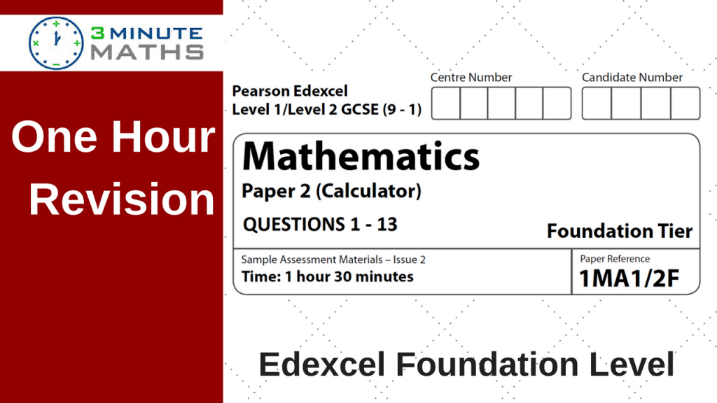Edexcel GCSE Maths Foundation Past Paper
