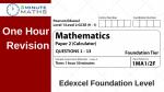 Edexcel GCSE Maths Foundation Past Paper 2
