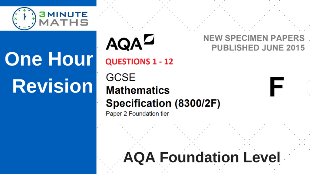 AQA Maths Past Paper - Foundation 2 - with video solutions
