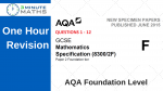 AQA Maths Past Paper – Foundation 2 – with video solutions