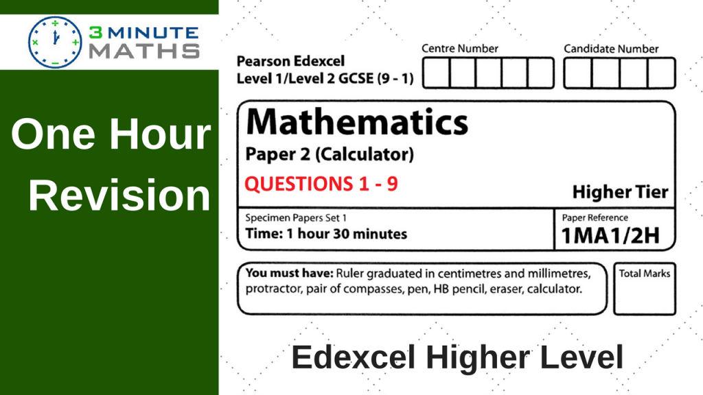 Edexcel Maths Past Paper – Higher 2