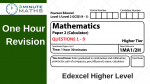 Edexcel Maths Past Paper – Higher 2 – with video solutions