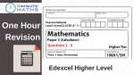 Edexcel Higher GCSE Maths Revision