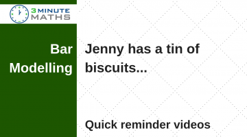 Year 6 Bar modelling – Jenny has a tin of biscuits