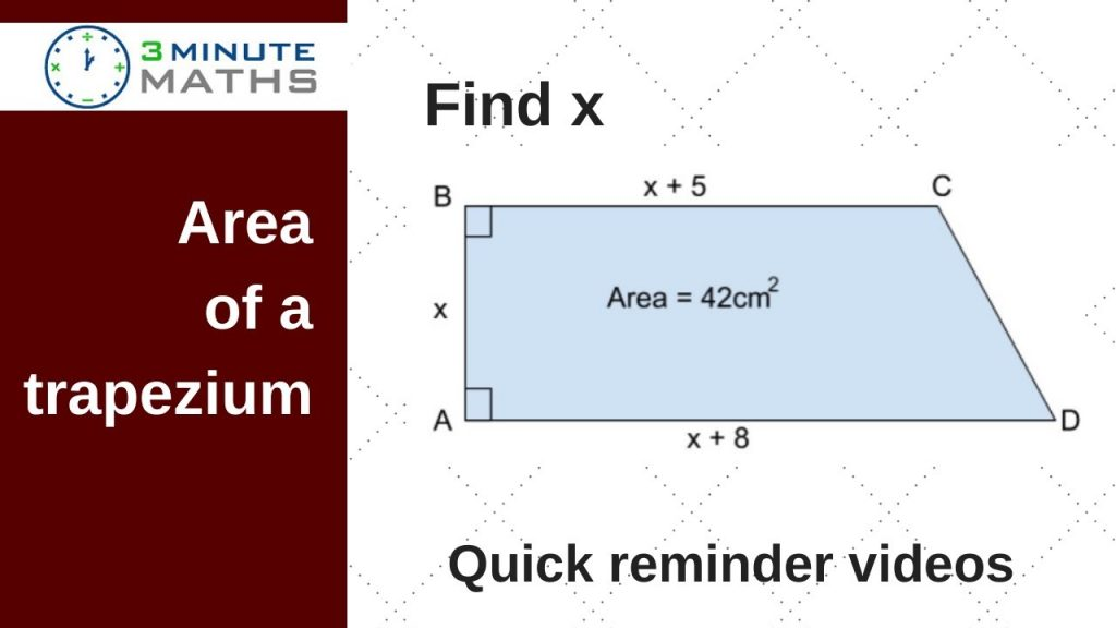 finding the area of a trapezium