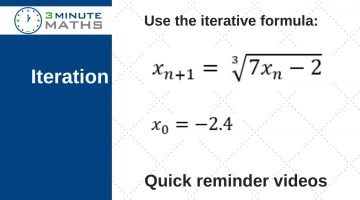 GCSE mathematics iteration