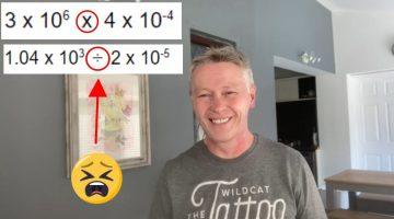 Standard form calculations